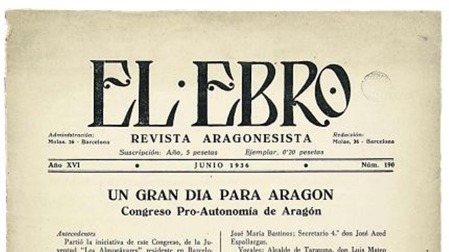 «La revista 'El Ebro' fue una tribuna del pensamiento aragonesista»