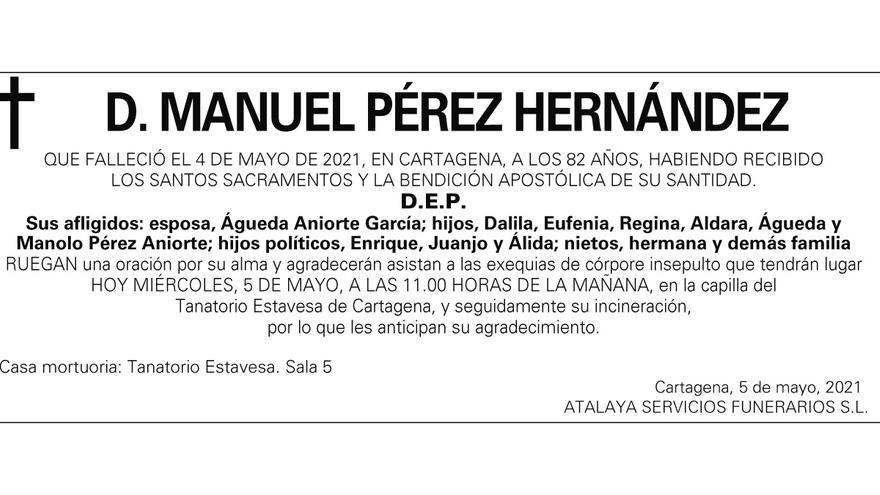 D. Manuel Pérez Hernández