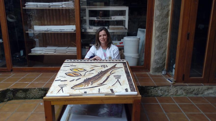 El mosaico de Panxón ya tiene réplica