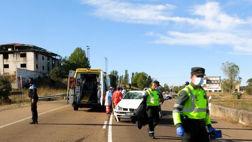 Fallece un motorista tras sufrir un accidente en la carretera de Ciudad Rodrigo