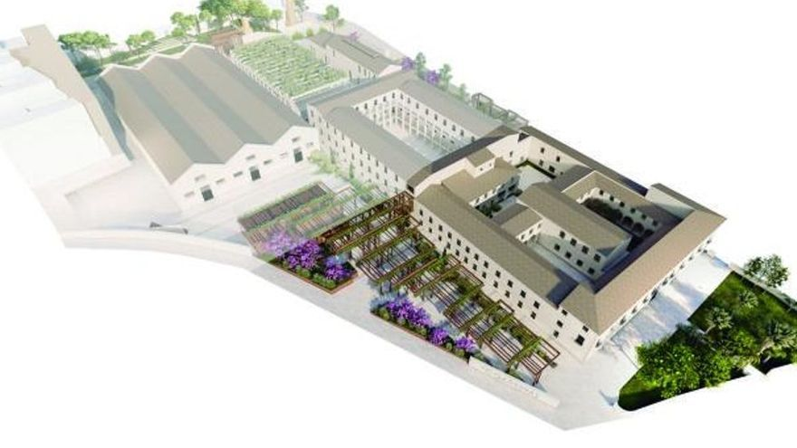 La primera actuación del complejo se centrará en la antigua casa de la Misericordia y las zonas exteriores de la entrada y el lateral que da al antiguo complejo