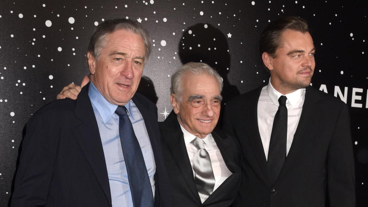 Robert De Niro, Martin Scorsese y Leonardo DiCaprio.