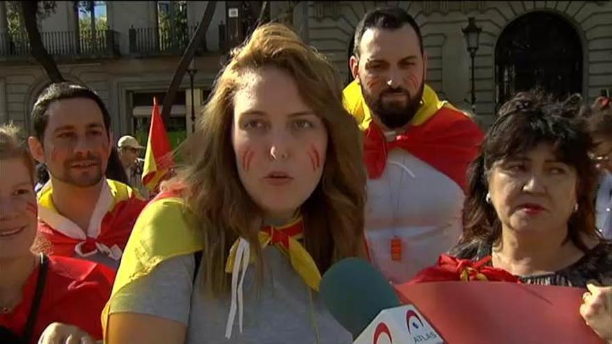 Marcha masiva en Barcelona contra la independencia