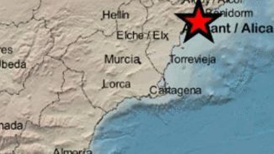 Se registran dos ligeros terremotos en la provincia de Alicante