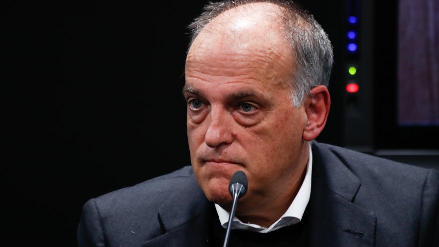 """Tebas: """"Florentino Pérez miente o está equivocado"""""""