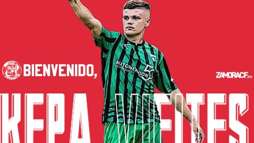 El delantero Kepa Vieites llega al Zamora CF