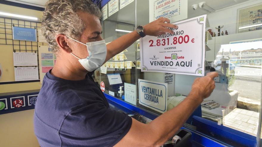 La Bonoloto deja tres millones de euros en Gran Canaria