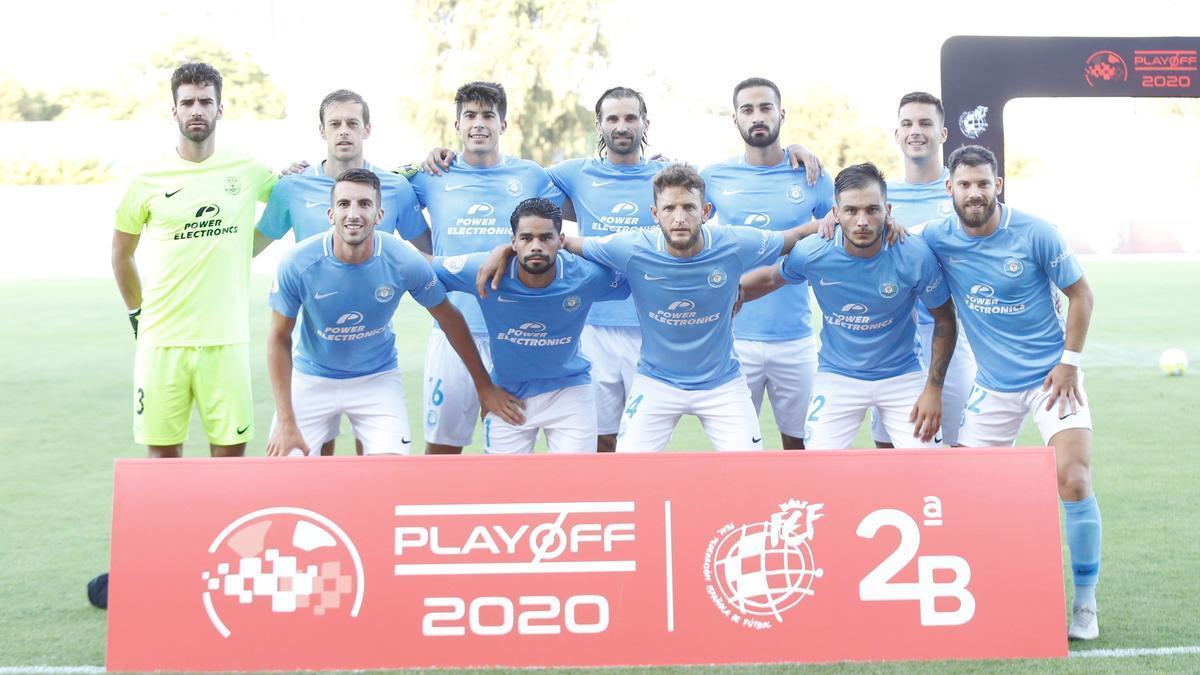 Alineación de la UD Ibiza en el partido frente al Cornellà de la temporada pasada