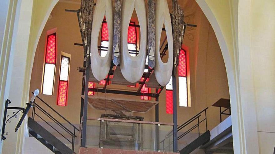 El órgano de mármol se encuentra en el santuario de La Mola.