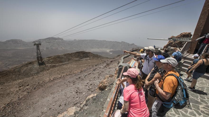El Teleférico del Teide, cerrado por el fuerte viento