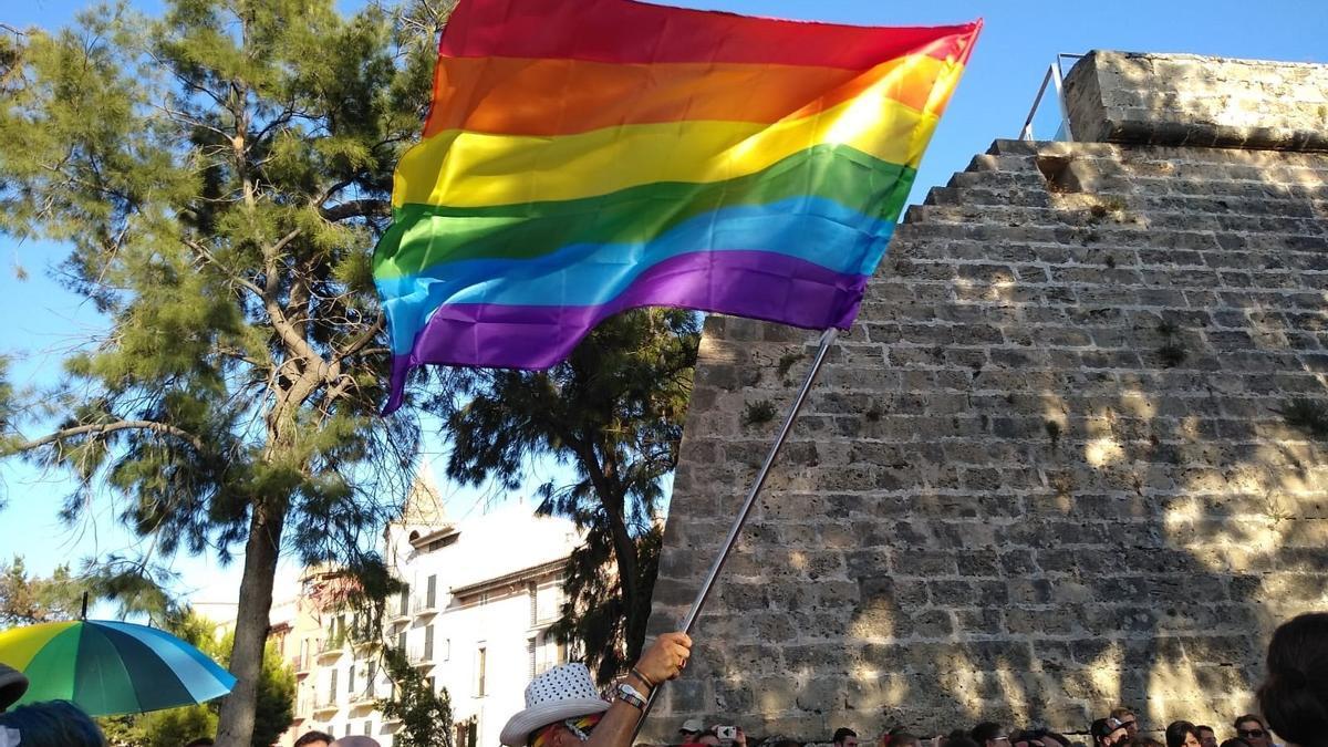 Bandera arcoiris, símbolo del orgullo LGTBI.