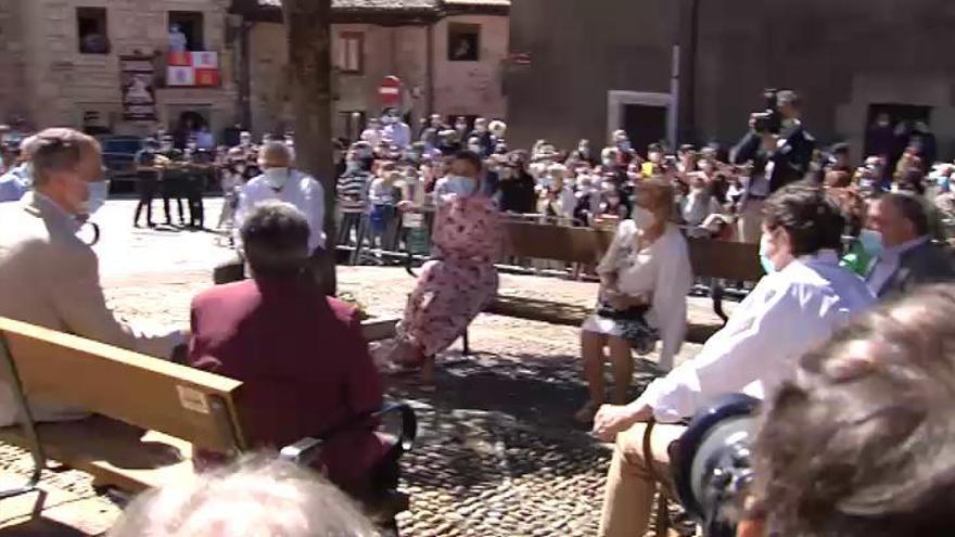 Los Reyes se centran en la despoblación en su visita a Soria