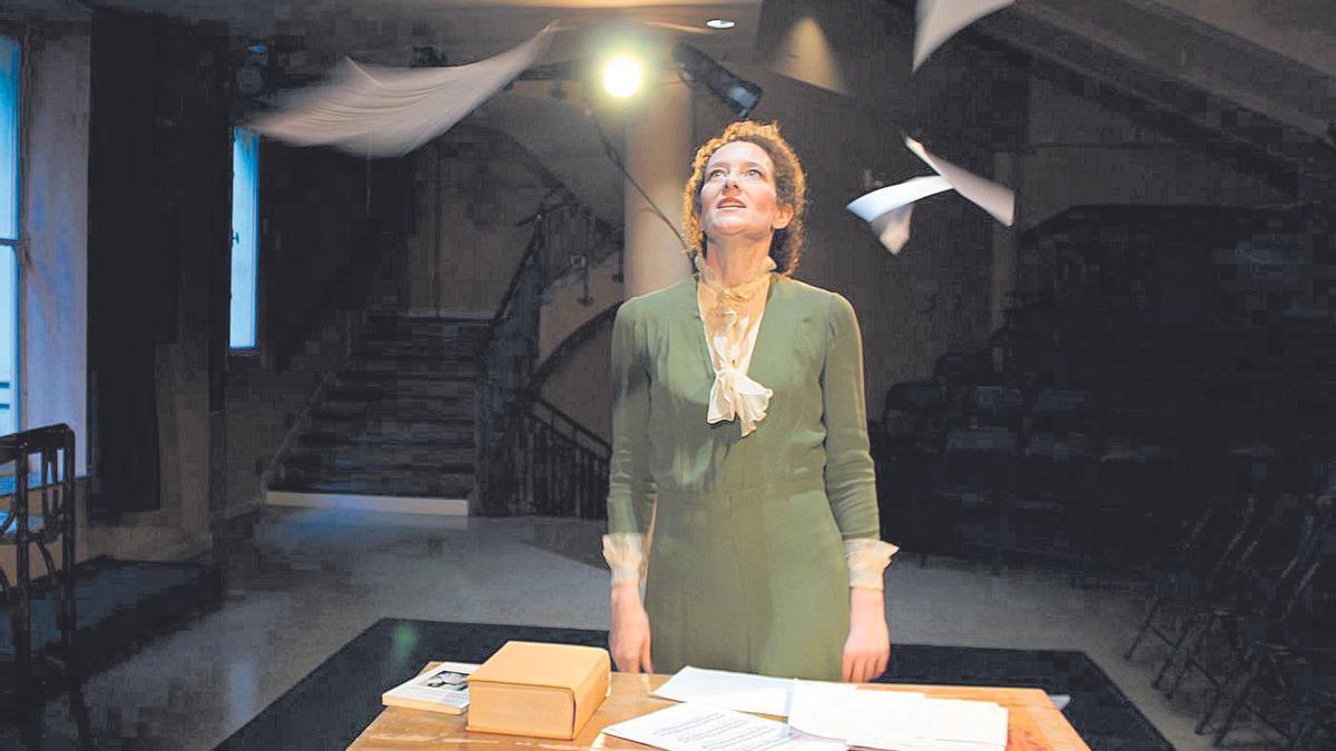 Clara Sanchis, en un momento de la representación.