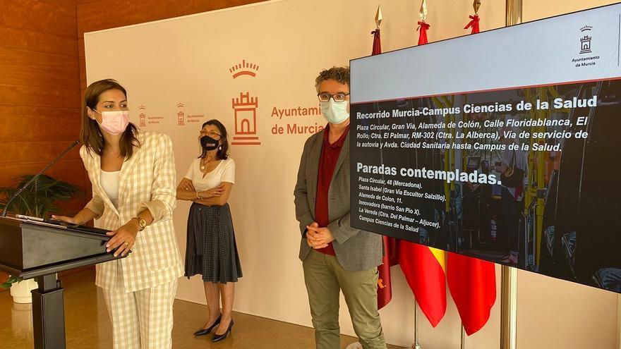 Murcia estrenará una línea de bus que unirá la Circular con el Campus de Ciencias de la Salud