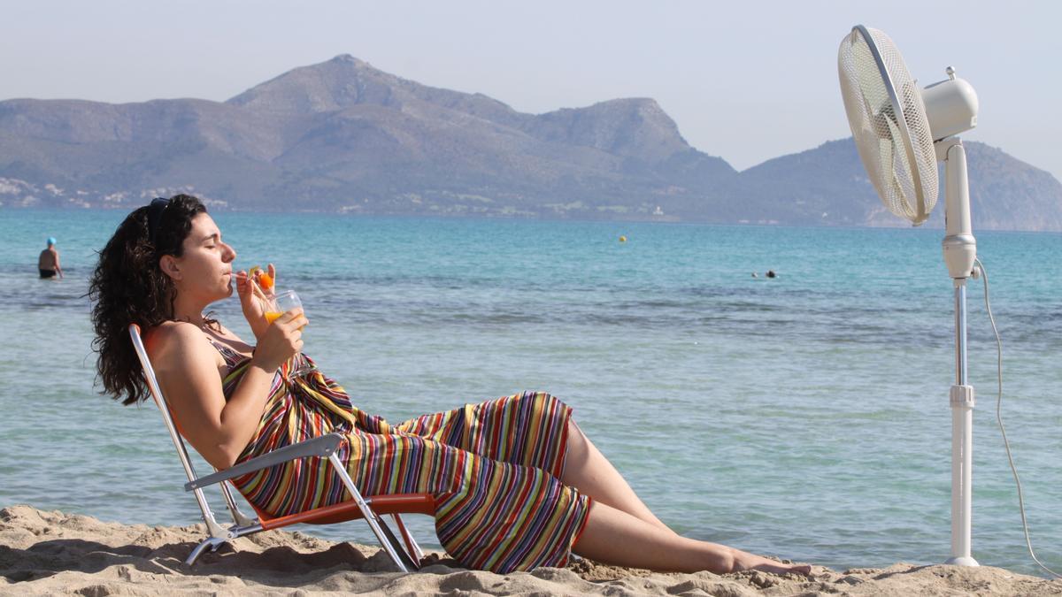 Bei der Hitze hält man es auf Mallorca selbst am Strand kaum aus.