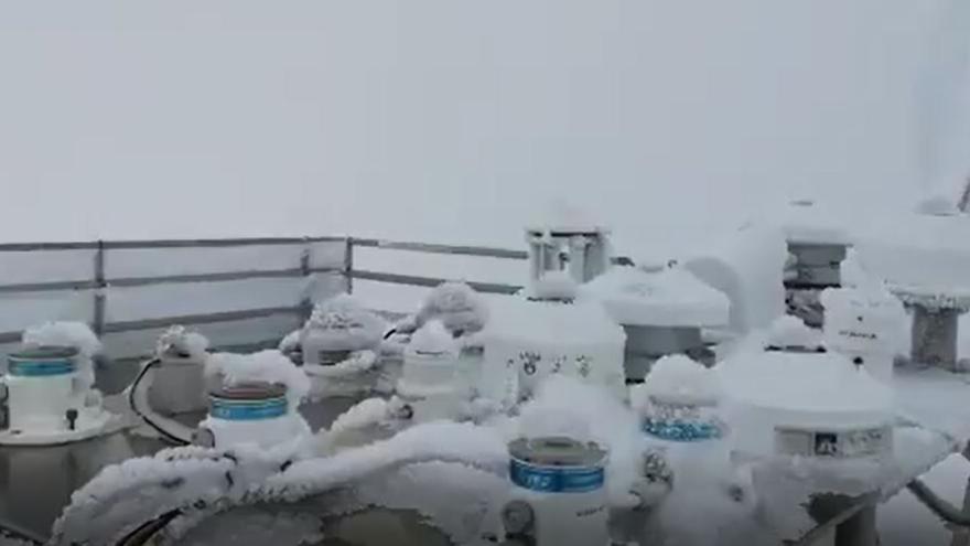 'Filomena' hiela el centro meteorológico de Izaña
