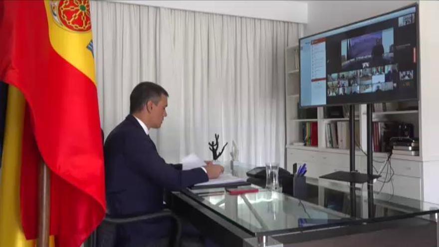 Sánchez participa telemáticamente en la Conferencia Internacional de apoyo a Beirut