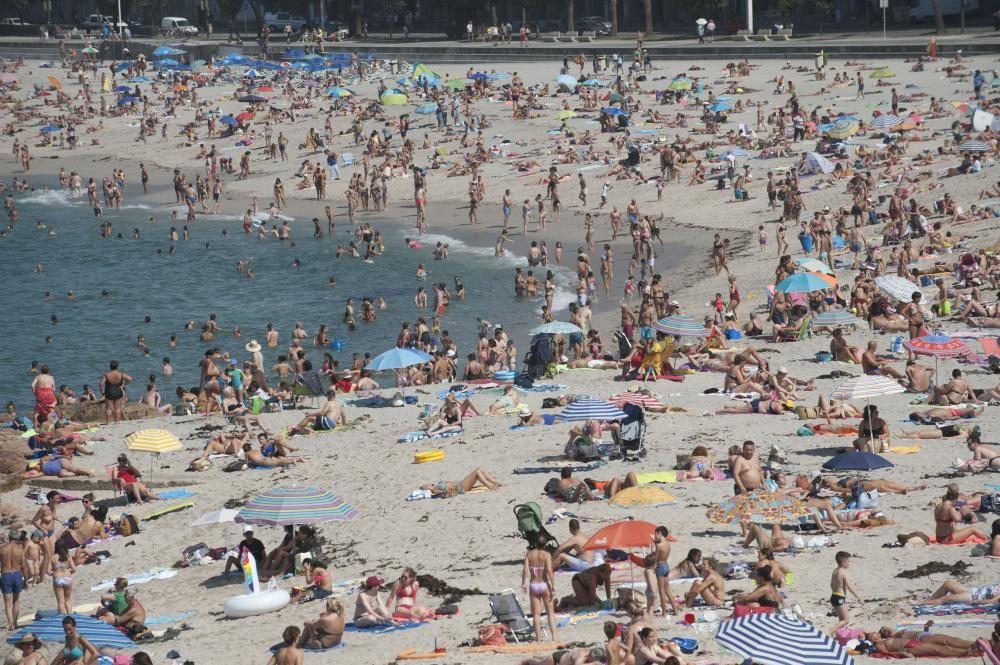 La ola de calor permanecerá en Galicia hasta el domingo.