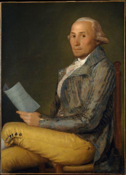 Retrato de Sebastián Martínez, pintado por Goya