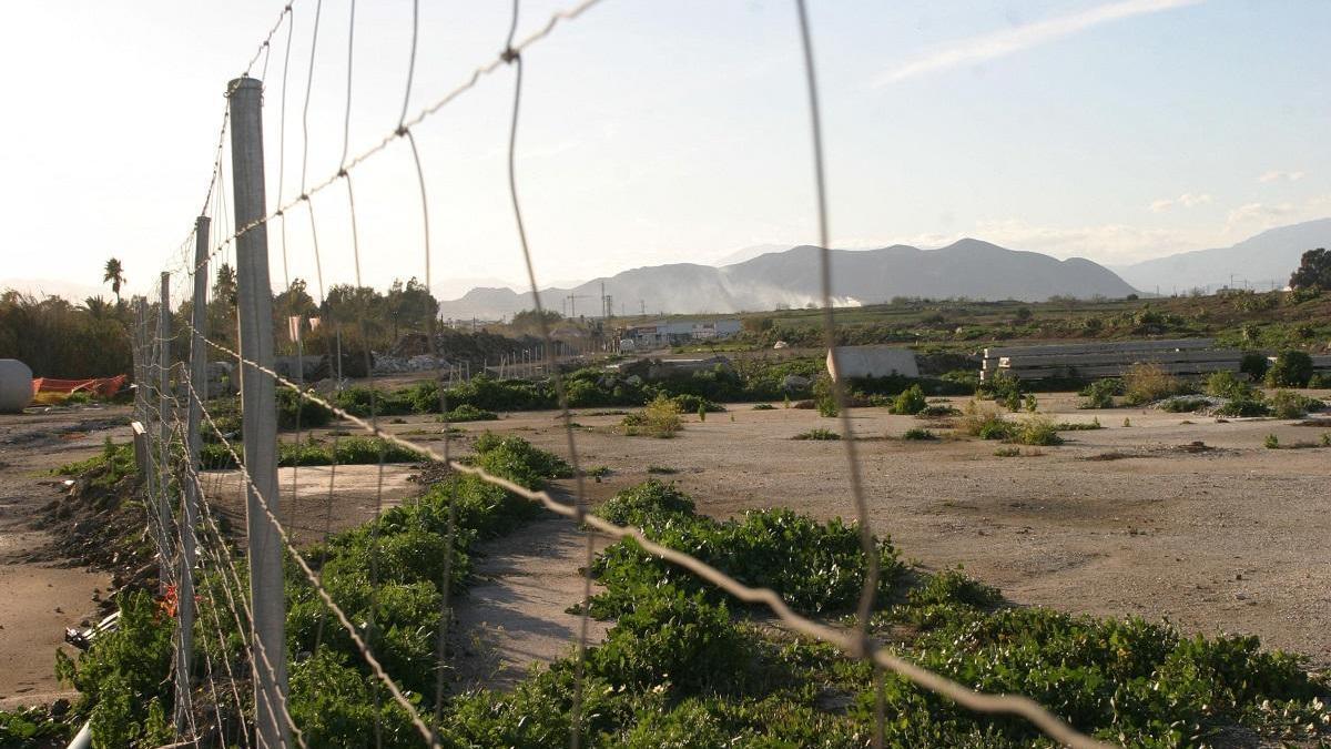 Terrenos de la antigua fábrica de Amoniaco de Málaga.