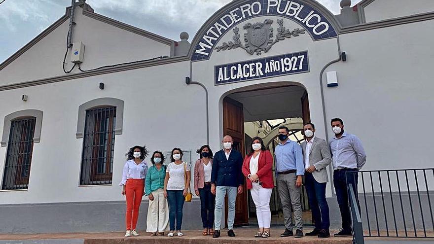 Gaspar visita el futuro museo de Alcàsser