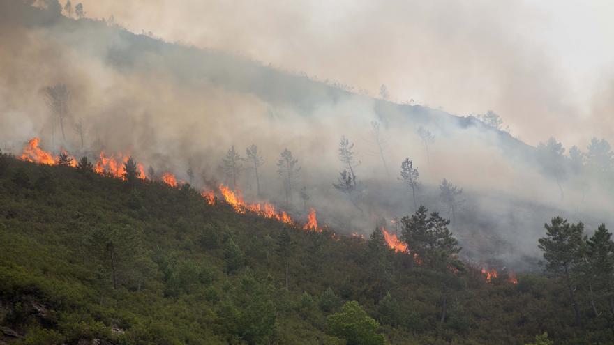 La Xunta atribuye a las tormentas eléctricas los incendios en Salvaterra y O Courel