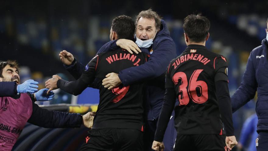 Willian José da el pase a la Real en el descuento en Nápoles