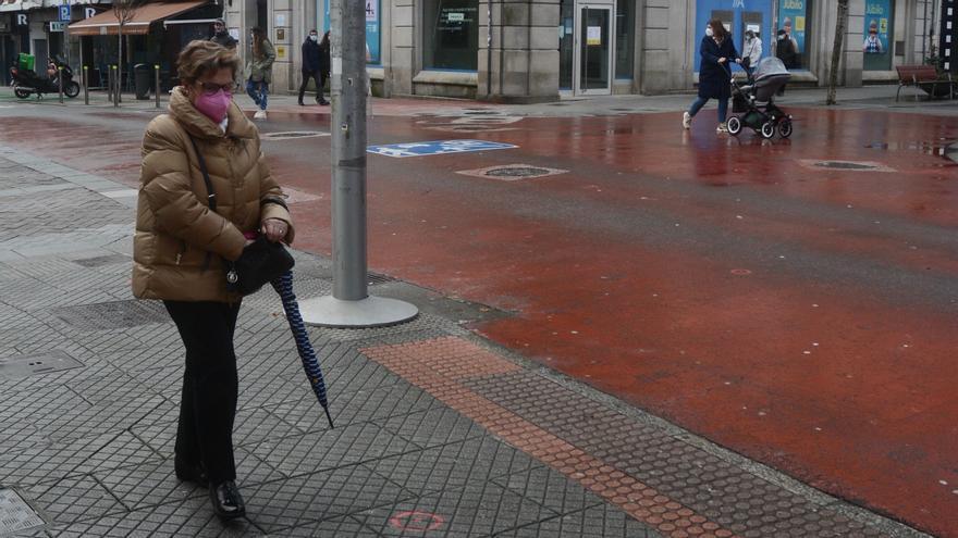 Prueban en Alcalde García Filgueira un nuevo pavimento para las aceras