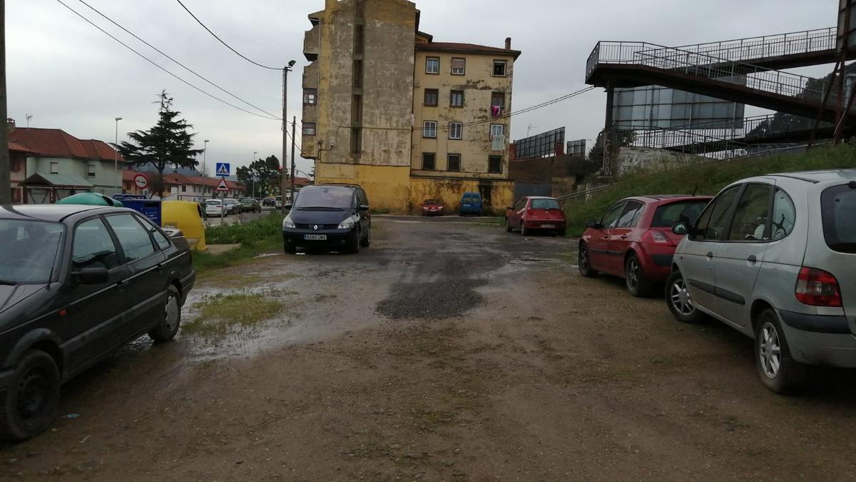 Uno de las nuevas zonas de aparcamiento proyectadas en Corvera.