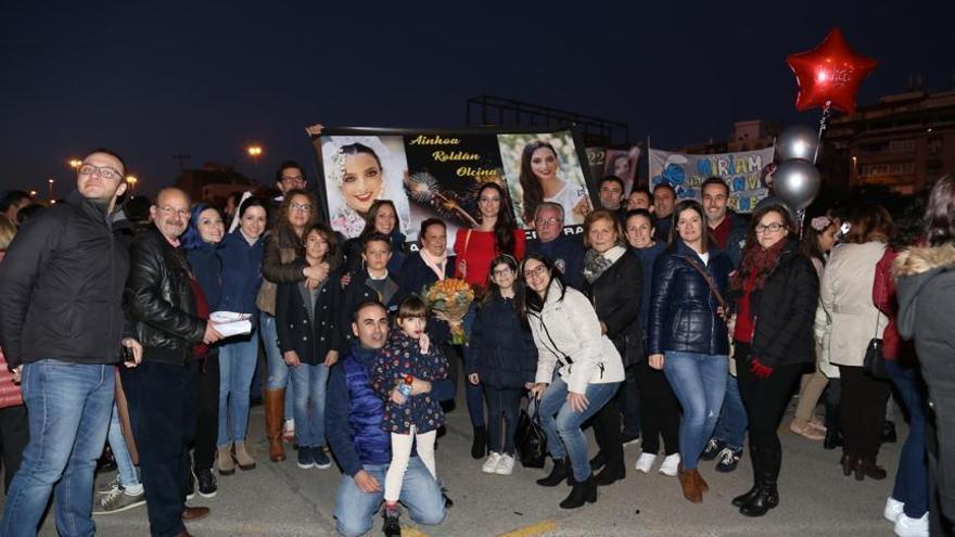 Llegada de las candidatas a Bellea después de haber promocionado la Fiesta en Fitur Madrid