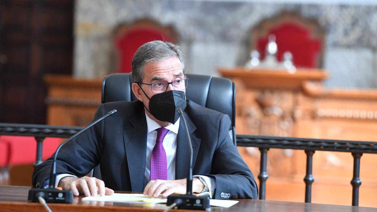 El presidente del TSXG, José María Gómez y Díaz Castroverde, presentó hoy la memoria de 2020.