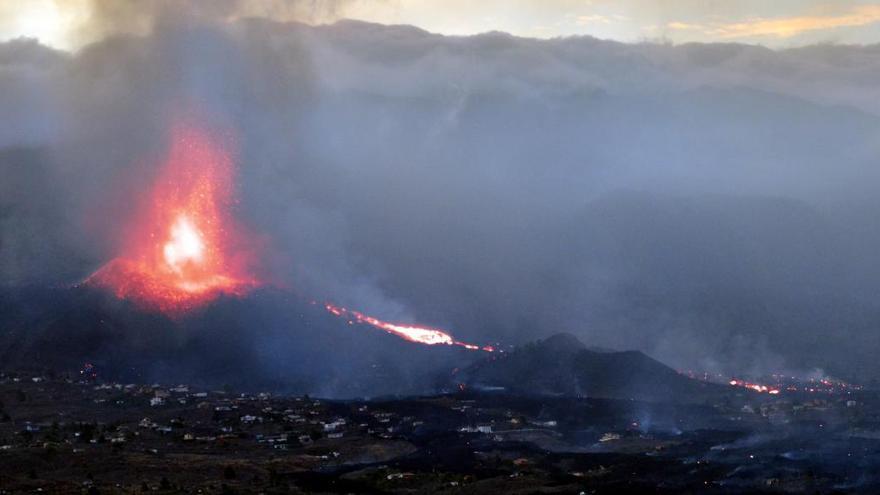 El volcán Tajogaite, en infrarrojo