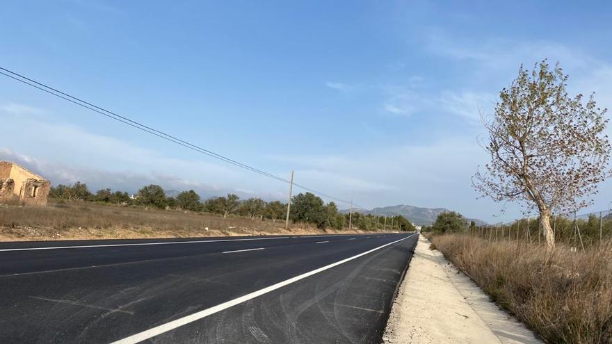 Mejoras en la carretera de Villena a Biar
