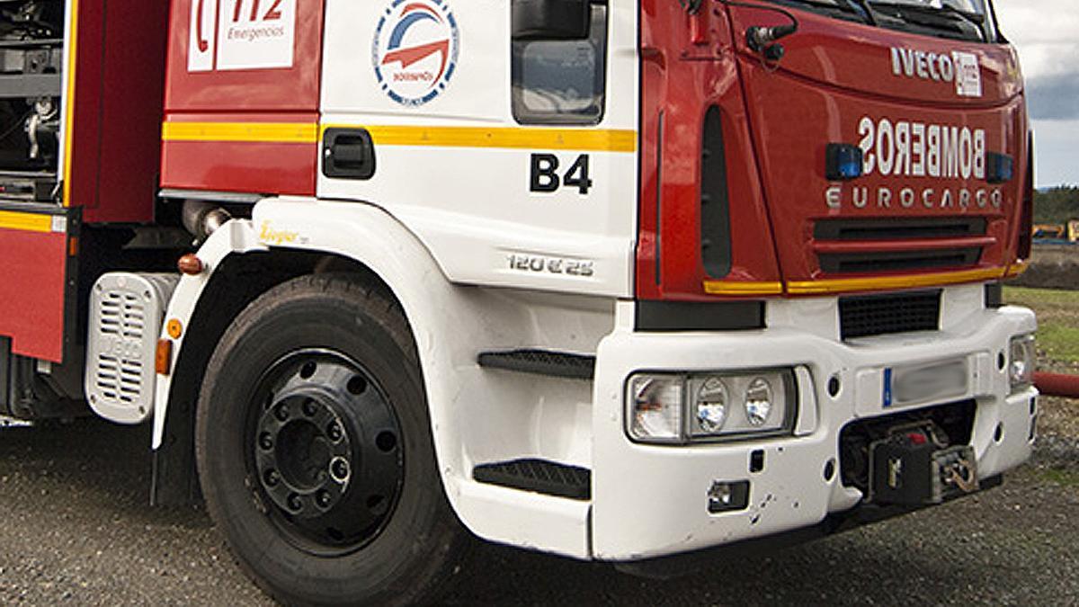Los bomberos han tenido que intervenir en el accidente de Toledo.