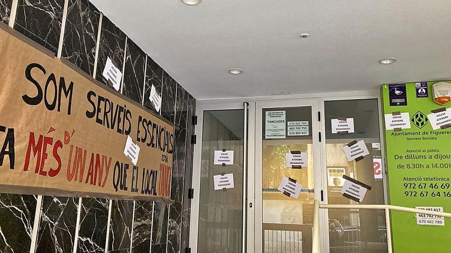 Queixa dels Serveis Socials de Figueres per «deficiències» a les oficines del carrer Sant Pau