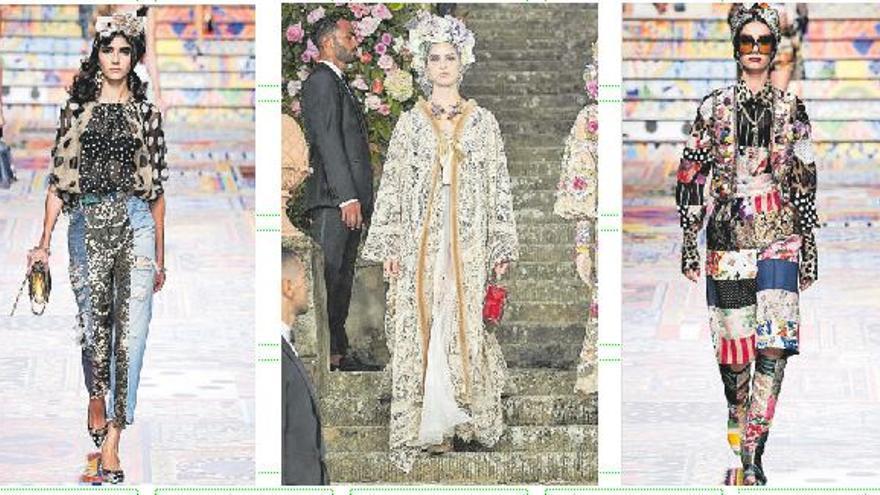 Tres modelos canarias en los desfiles de Dolce & Gabbana en Milán