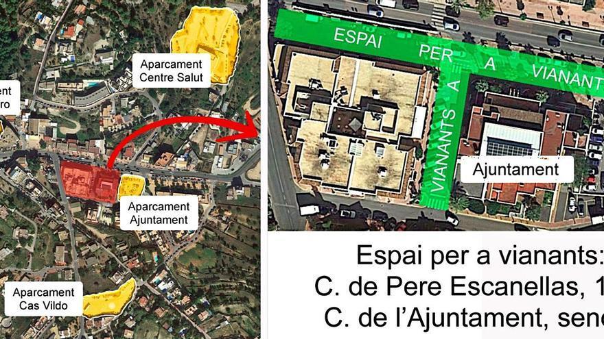 Sant Josep peatonaliza espacios en el centro del pueblo y de Sant Jordi