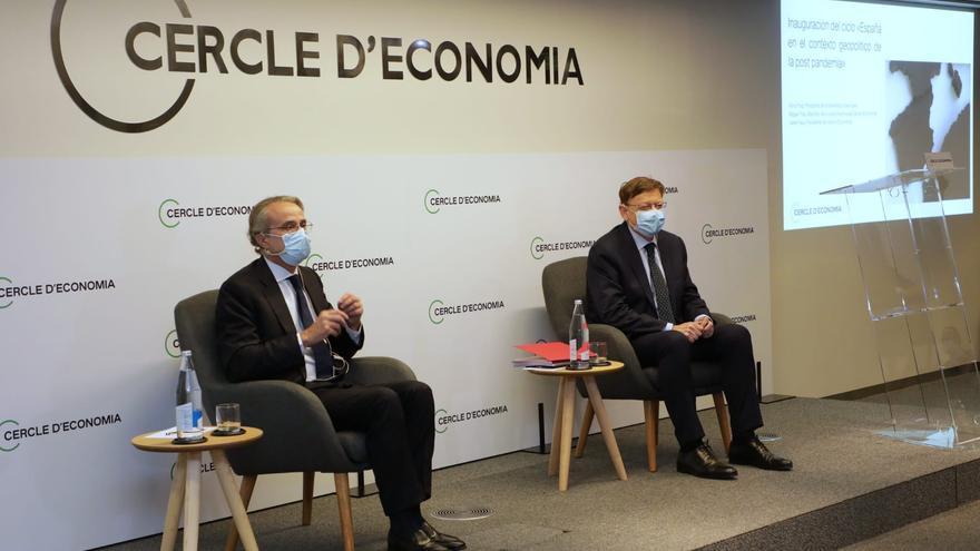 """Puig reivindica una """"Commonwealth mediterránea"""" con Cataluña frente a los """"abusos"""" de Madrid"""