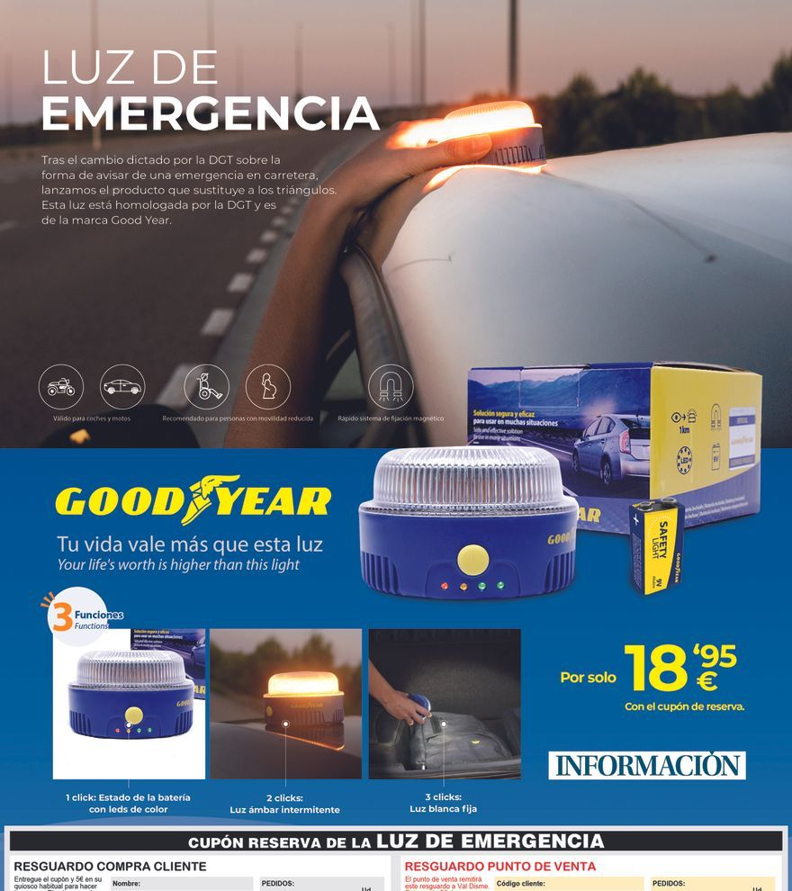 Luz de emergencia Good Year