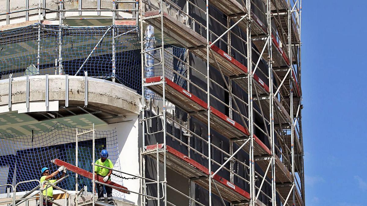 Obras de construcción de viviendas en Málaga