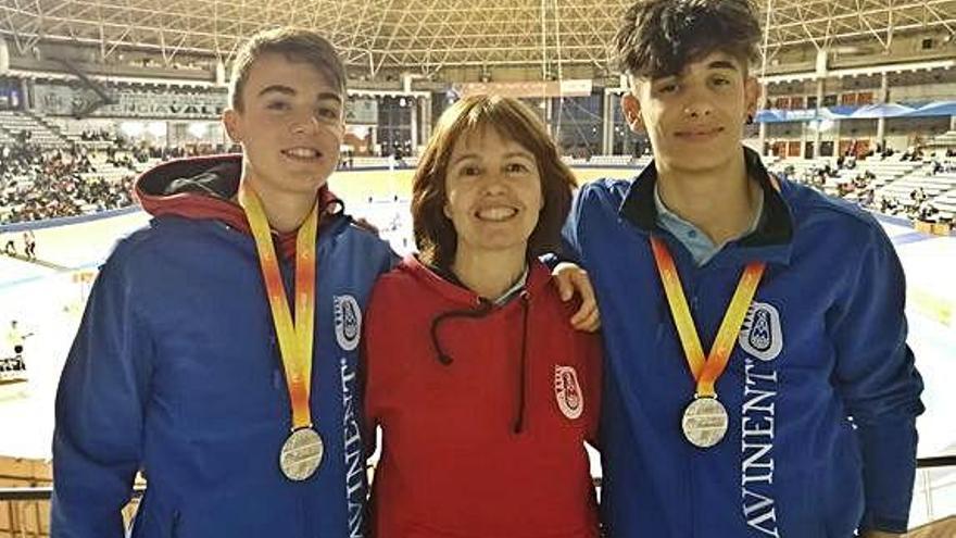 Els atletes de l'Avinent Jan Díaz i Biel Salas signen la plata als estatals sub-18