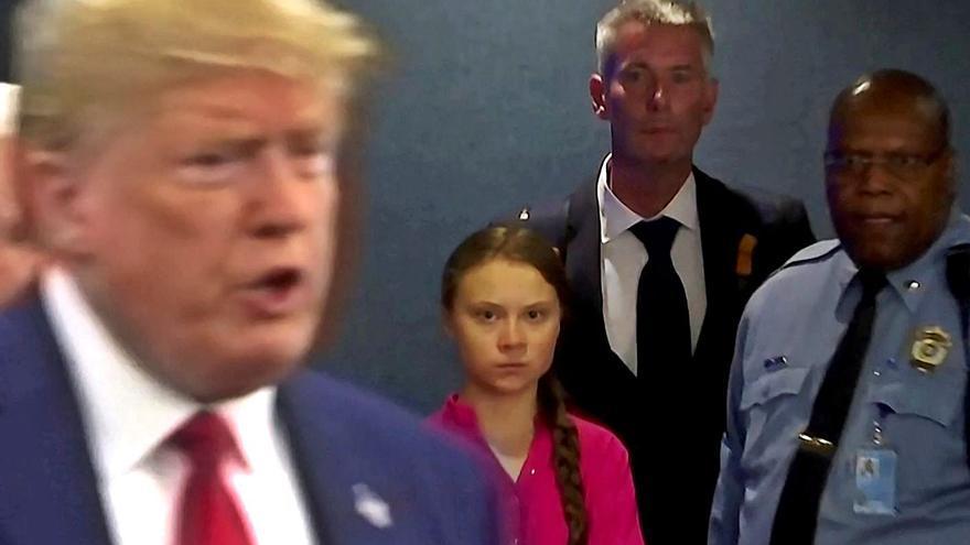 Trump y Greta Thunberg: donde las dan, las toman