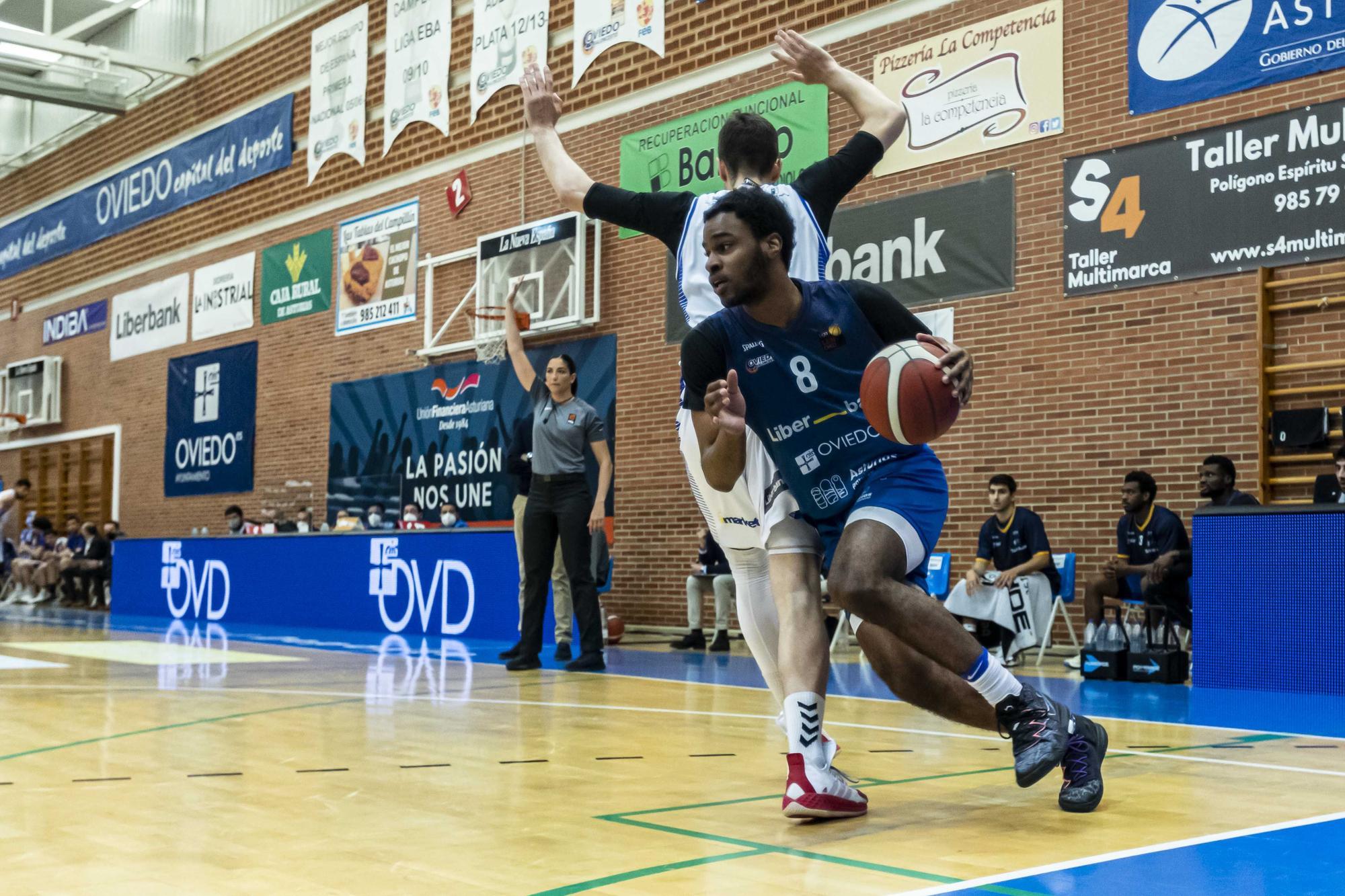 Las imágenes de la victoria del Liberbank Oviedo Baloncesto ante el Almansa que vale la clasificación para el play-off de ascenso a la ACB