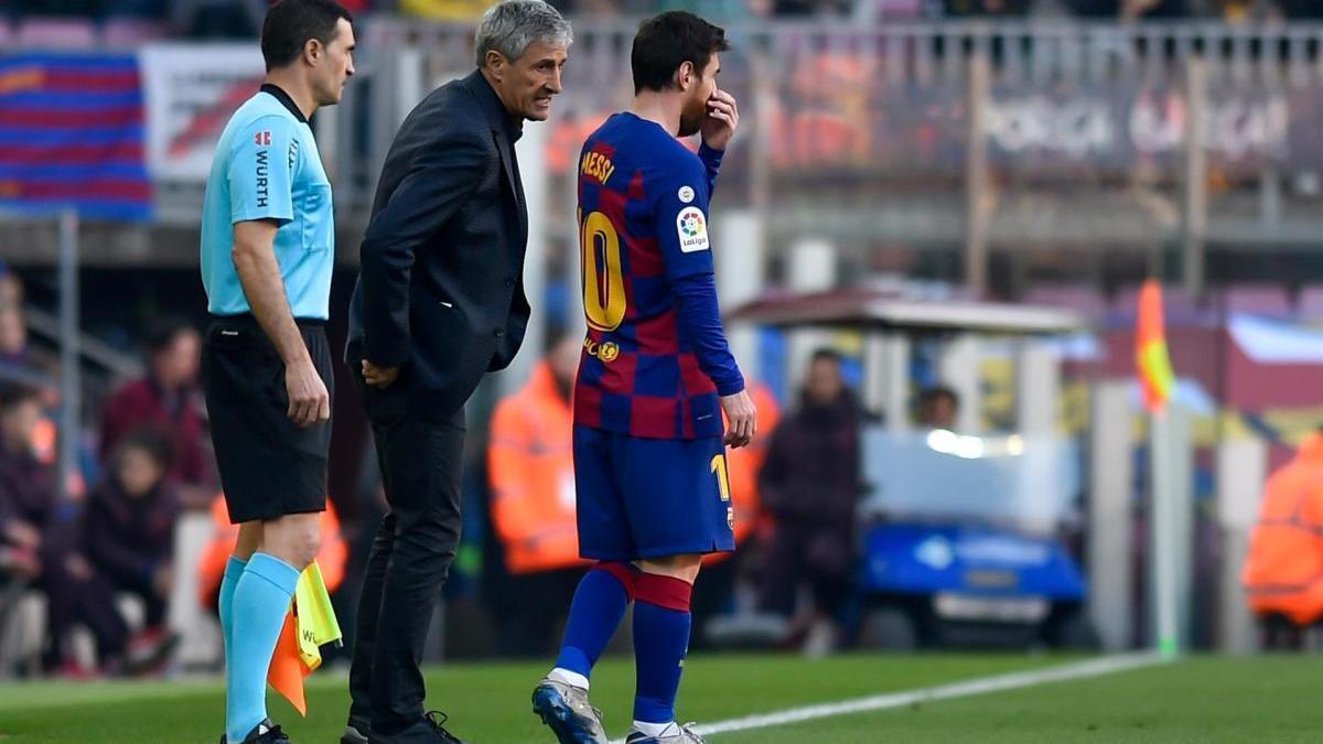 Setién donant instruccions a Messi en un partit. FOTO /Espa Photo Agency via CSM via / DPA - Arxiu