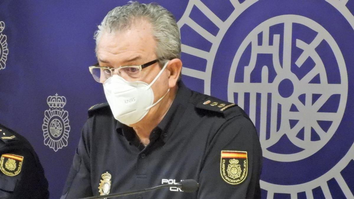 El comisario de la Policía Nacional de Ourense, Juan Carlos Blázquez. // FERNANDO CASANOVA