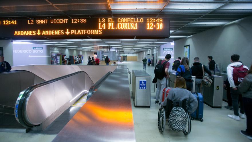 Ferrocarriles de la Generalitat mejorará la capacidad de maniobras de los tranvías entre las estaciones de Luceros y Mercado