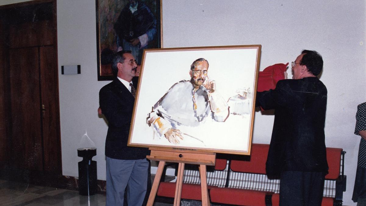 1995: El retrato de un rector parecido a su imagen futura