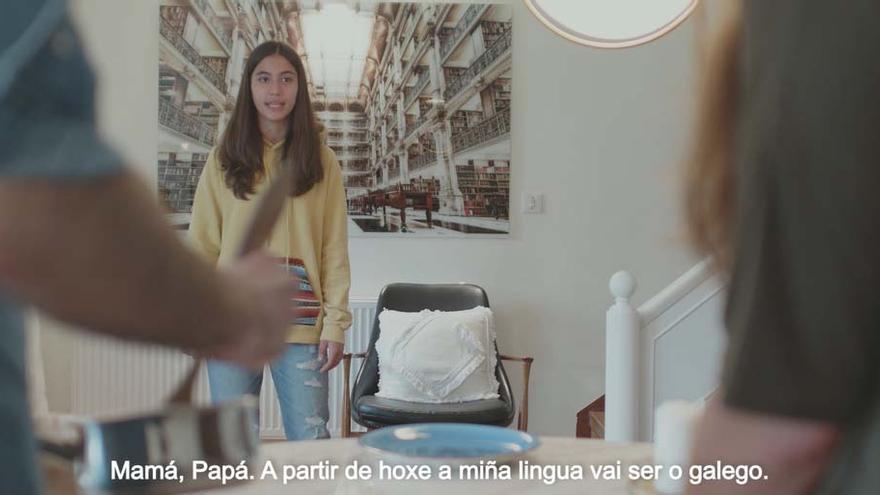 """""""Mamá, papá. A partir de hoxe a miña lingua vai ser o galego"""""""