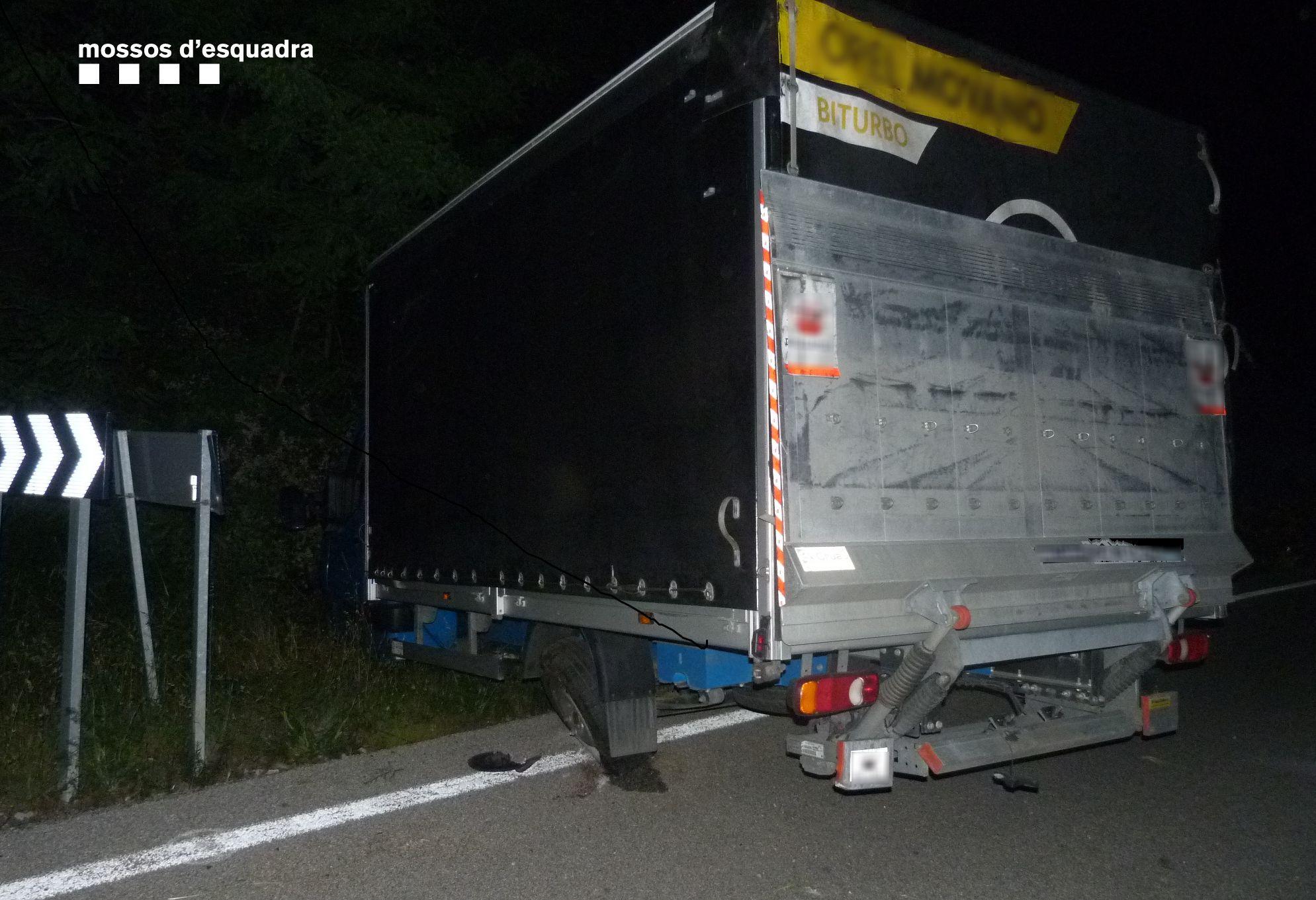 S'accidenta amb una furgoneta a la Jonquera i acaba detingut per multiplicar per cinc la taxa d'alcohol permesa
