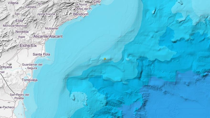 La costa alicantina registra un nuevo seísmo de 2,0 grados a la altura de Santa Pola